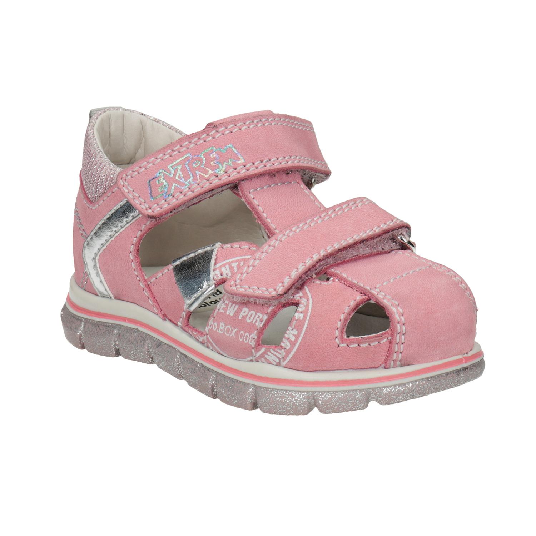 c0cc05191270 Dievčenské kožené sandále s potlačou