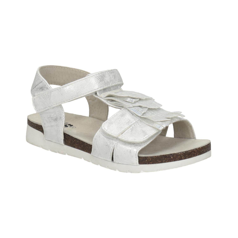 Stříbrné dívčí sandály