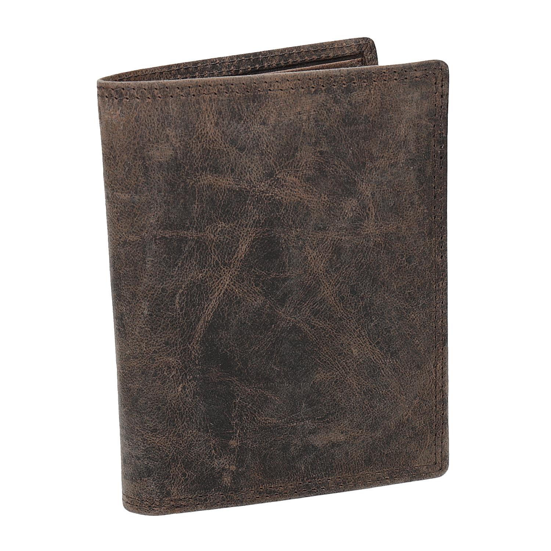 Hnedá pánska kožená peňaženka