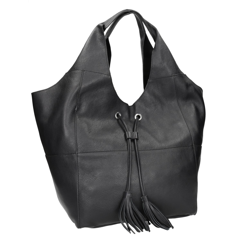 Kožená dámská kabelka se střapci