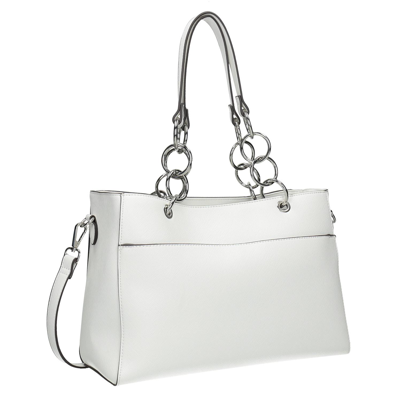 Bílá kabelka s řetízkem