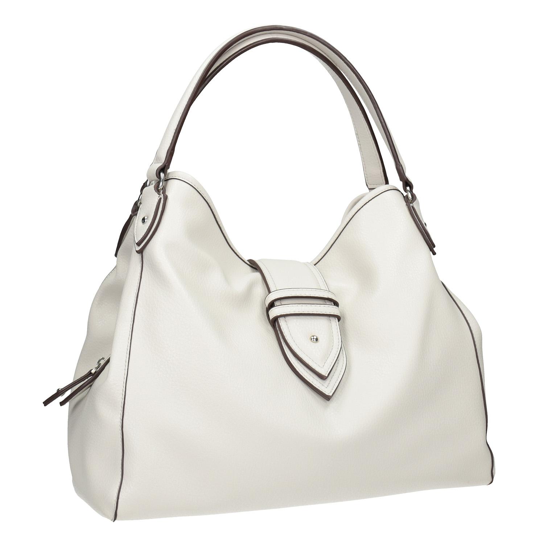 Bílá kabelka s přezkou