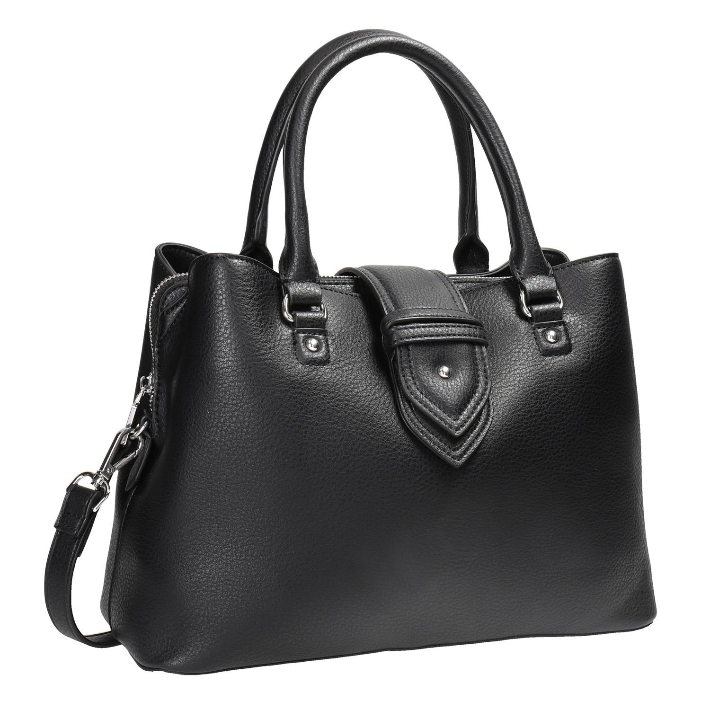 Czarna torba zodpinanym paskiem - 9616216