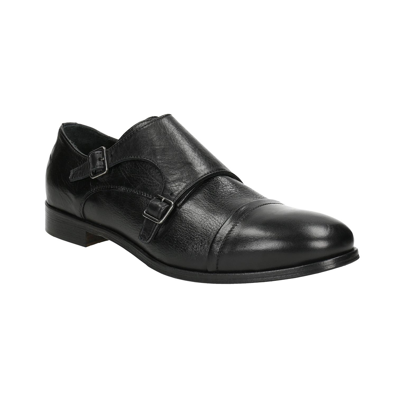 Czarne skórzane monki - 8246730