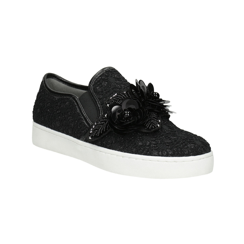Top or cierne sandalky na podpatku  a6c893ecba0