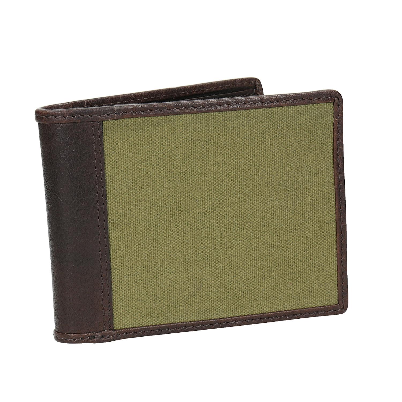 Pánská peněženka v kombinaci kůže a textilu