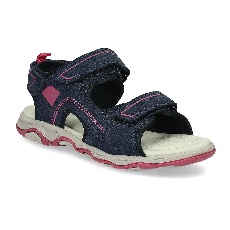 Dětské sandály z broušené kůže