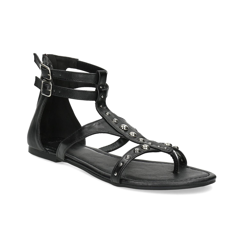 8a1886b841fc Top or cierne sandalky na podpatku