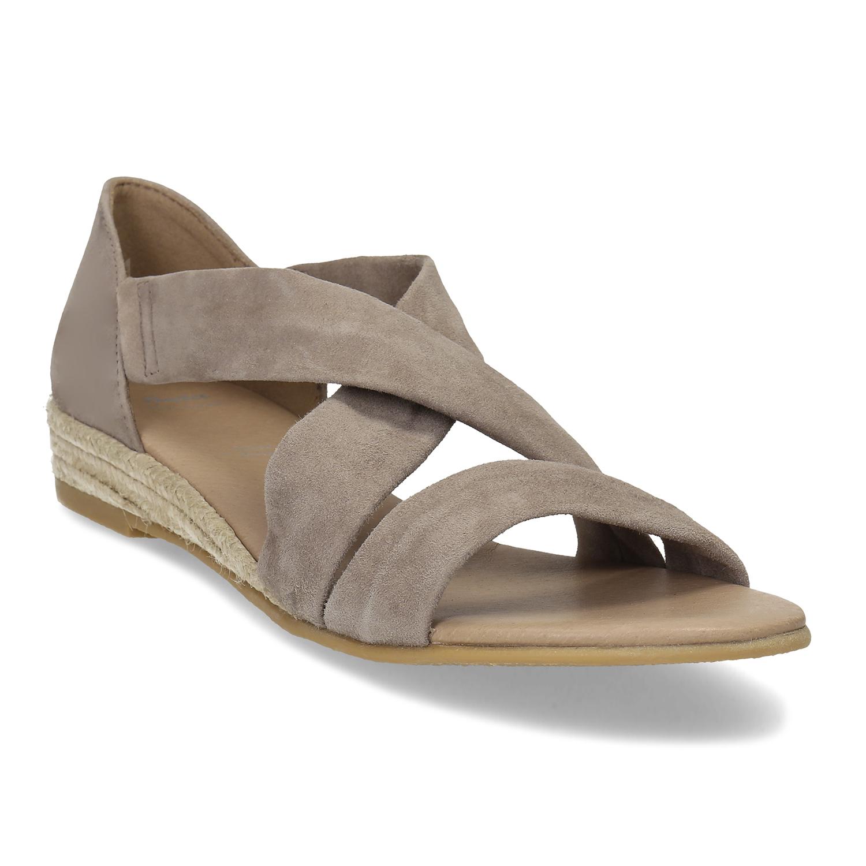 a15d307fa406 Kožené sandále na kline