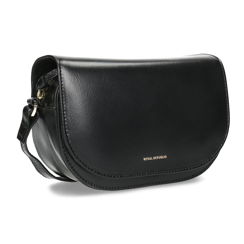 Skórzana torebka zklapą - 9646084