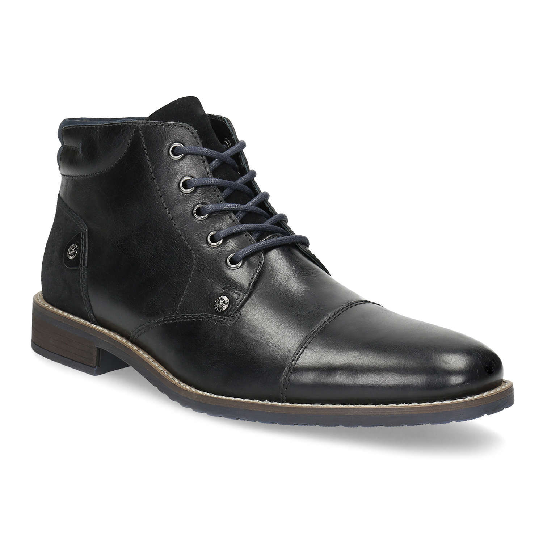 Členková pánska kožená obuv