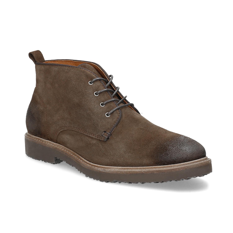 Skórzane buty wstylu chukka - 8234627