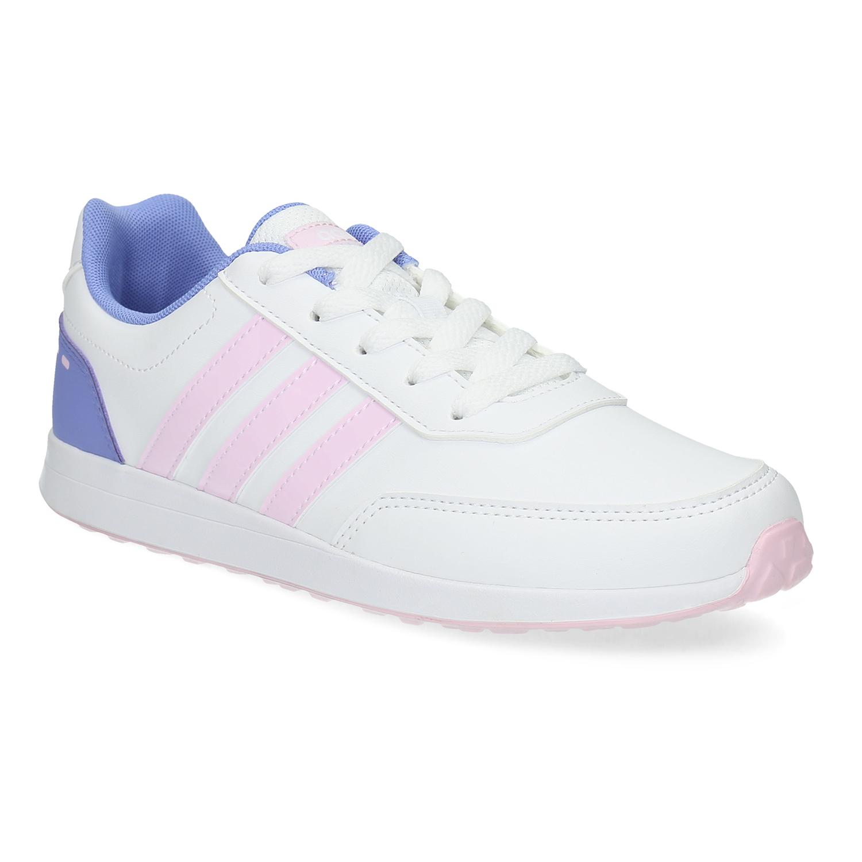 Dívčí bílé tenisky s růžovými detaily