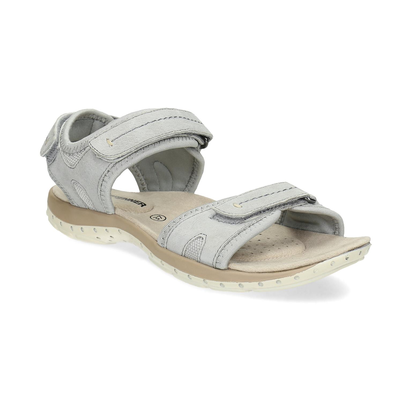 Kožené dámské sandály na suchý zip