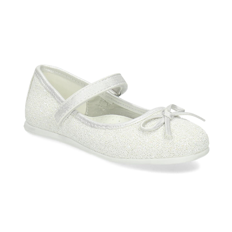Białe baleriny dziewczęce zpaskiem na podbiciu - 2291103