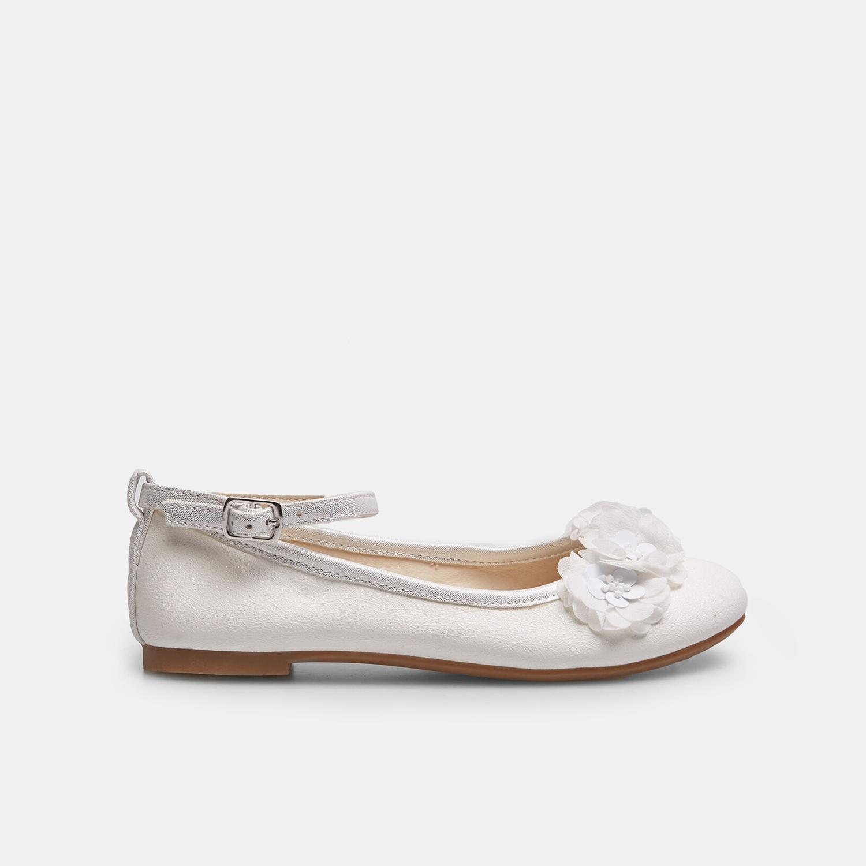 Białe baleriny zkwiatkami - 3211162