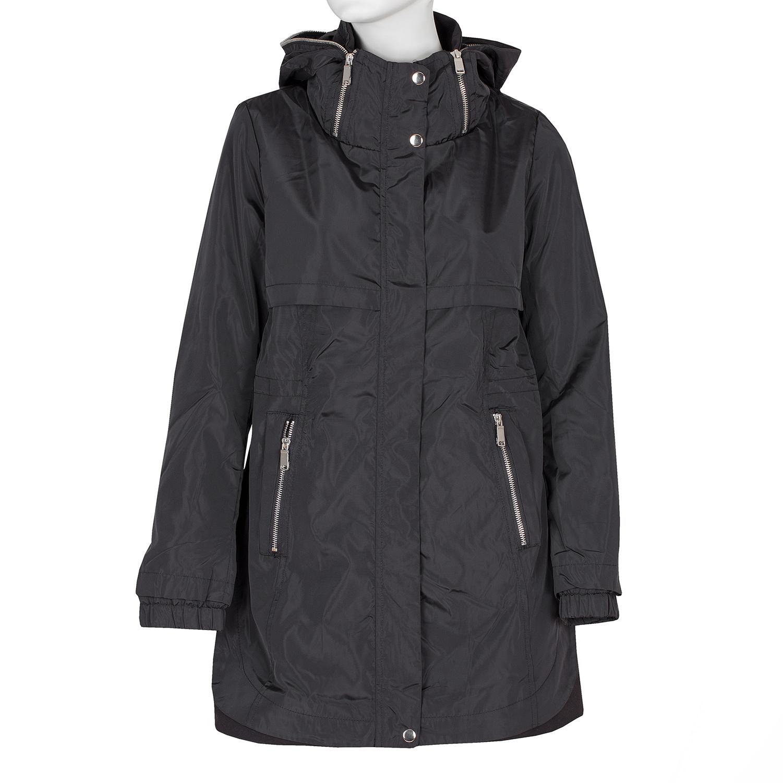 Delší dámská bunda s kapucí