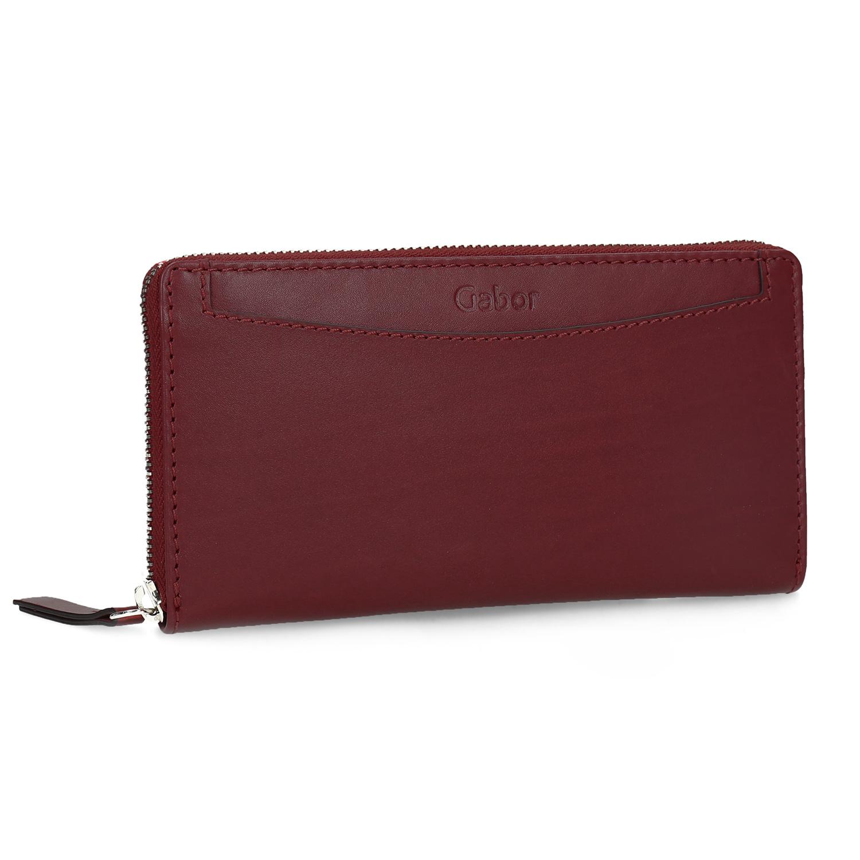 Červená kožená peněženka dámská