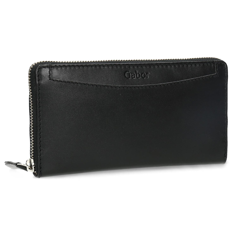 Czarny skórzany portfel damski - 9466003