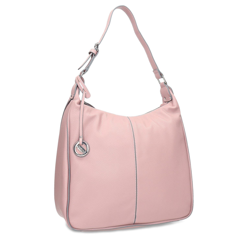Růžová dámská kabelka v Hobo stylu