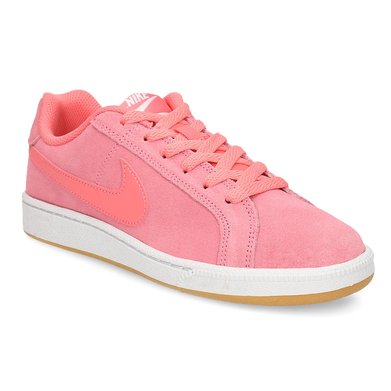 Kožené růžové dámské tenisky