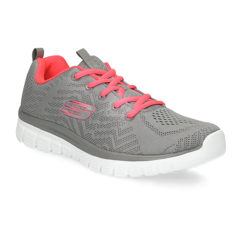 Sportovní růžovo-šedé tenisky dámské