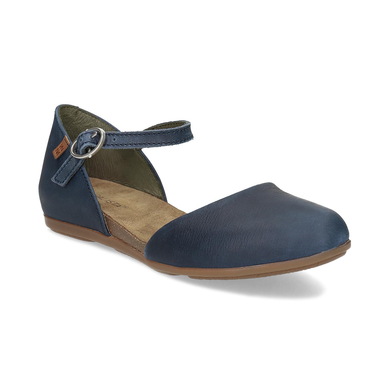 Dámské kožené sandály s plnou špicí