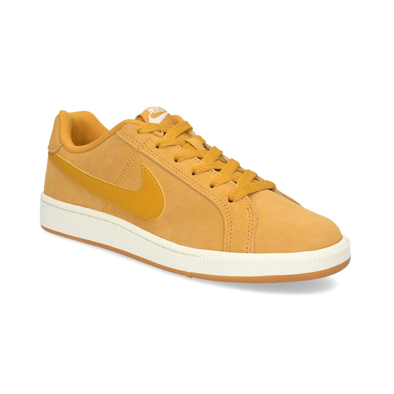 Dámské kožené žluté tenisky