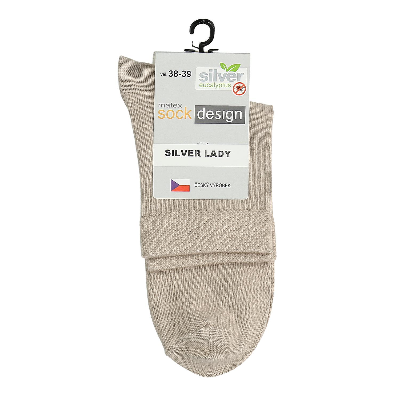 Vysoké dámské ponožky béžové