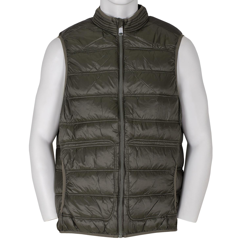 Pánská prošívaná vesta khaki