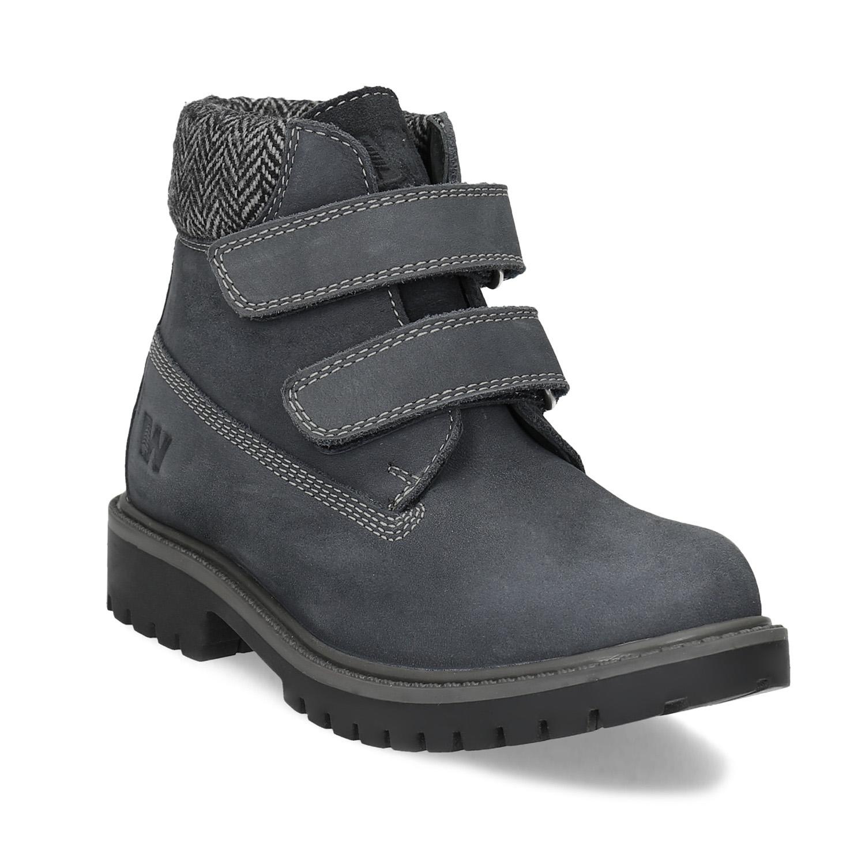 Dětská kožená kotníčková obuv na suché zipy