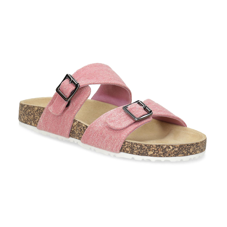 Dámské korkové pantofle růžové