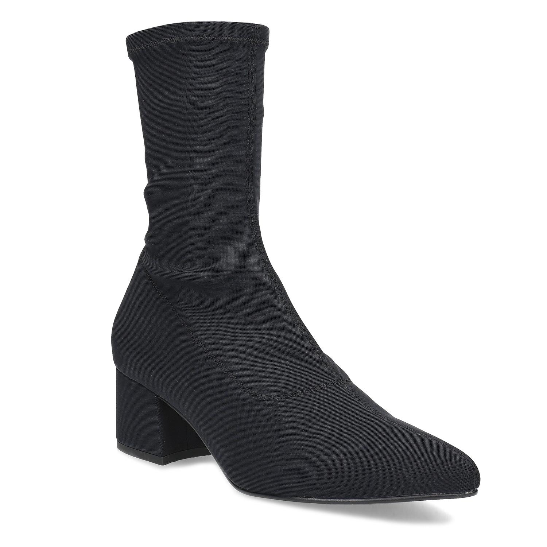 Čierne ponožkové čižmy Vagabond