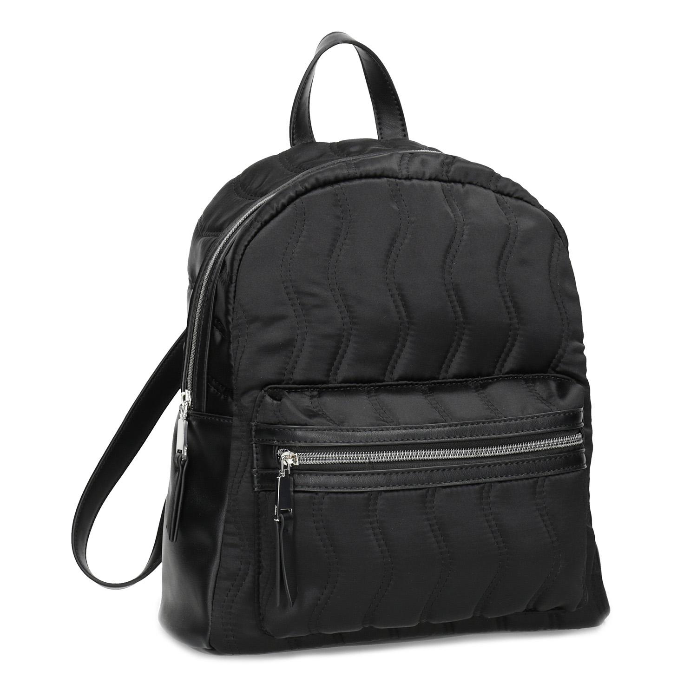 Čierny dámsky batoh s prešívaním