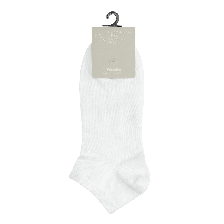 Pánske biele členkové ponožky