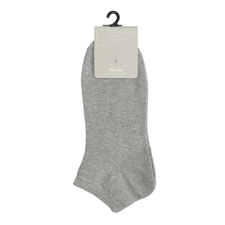 Pánske šedé členkové ponožky