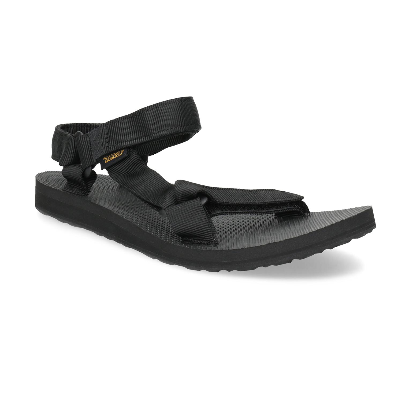Černé dámské sandály v Outdoor stylu