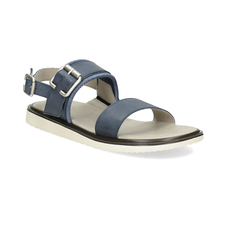 Pánské kožené sandály modré