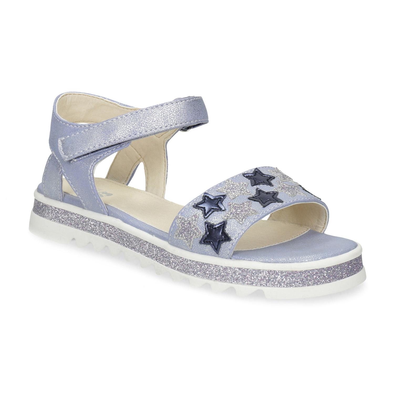 d10e3a6bc458 Modré dievčenské sandále s hviezdičkami