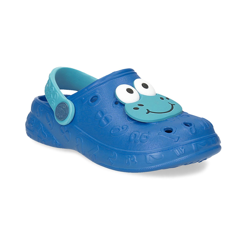 Modré dětské sandály s žabkou