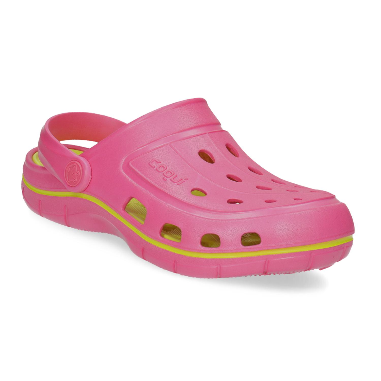 Růžové sandály typu Clogs