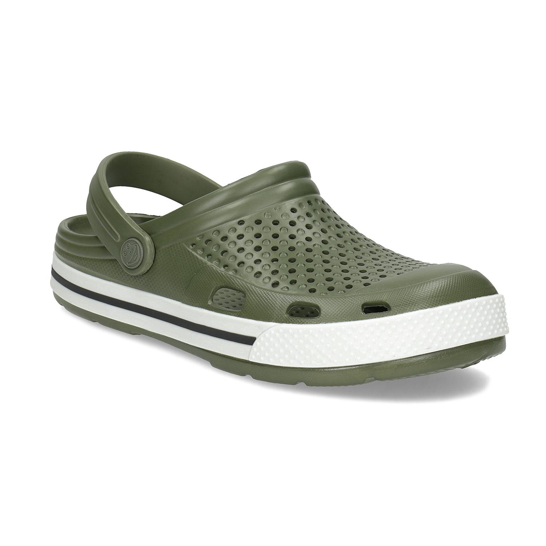 Pánské sandály typu Clogs khaki