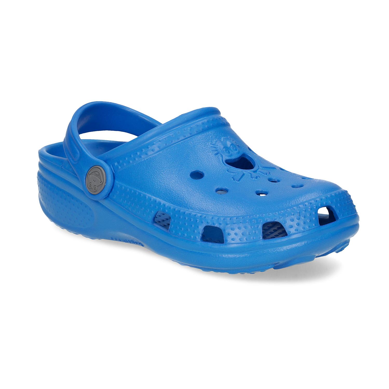 Modré dětské sandály s žabičkou