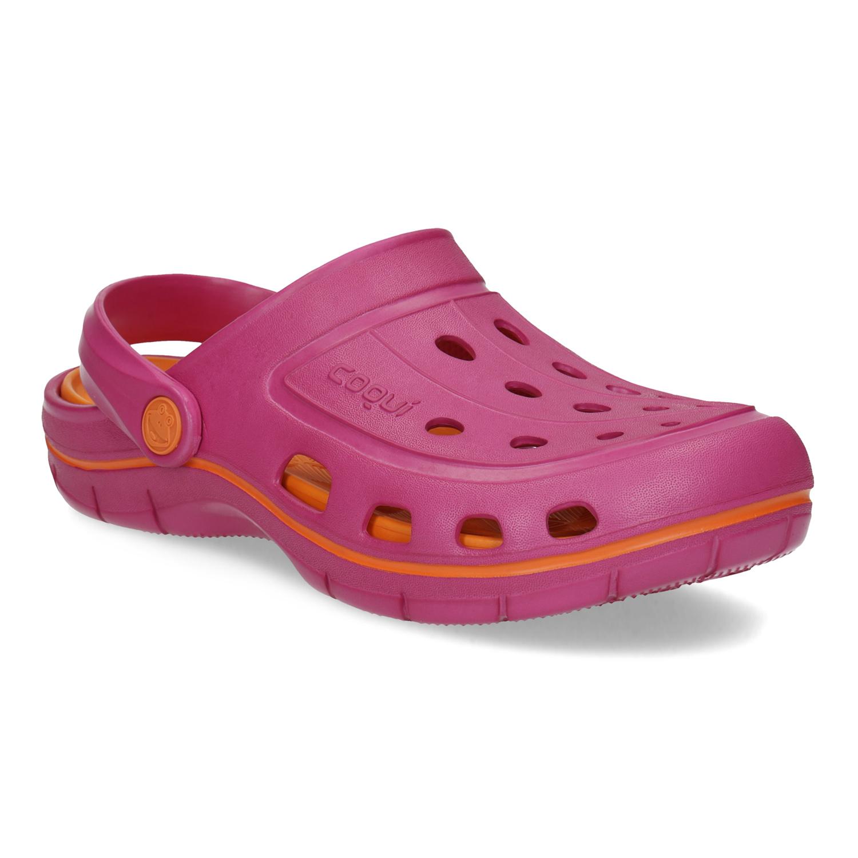 Růžové dámské sandály typu Clogs