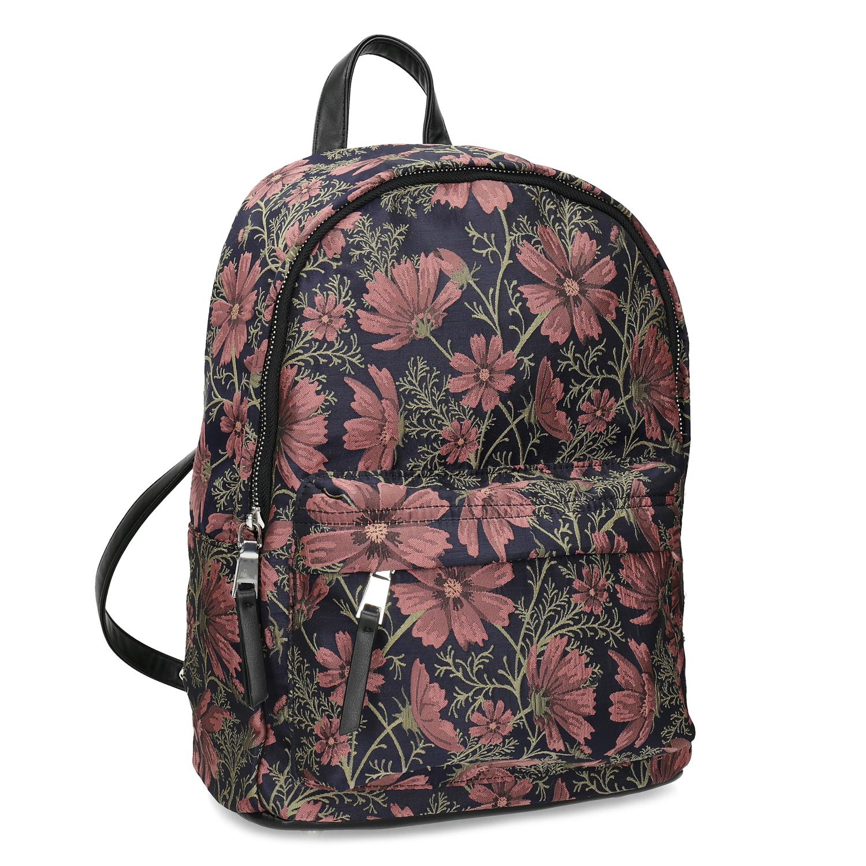 Batoh s kvetinovým vzorom