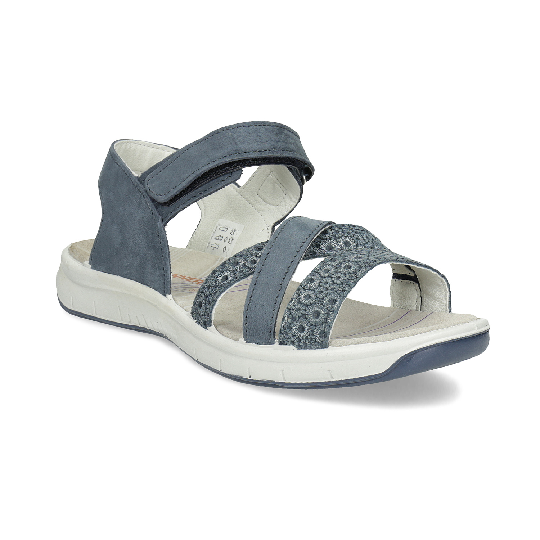 Kožené sandály v Outdoor stylu modré
