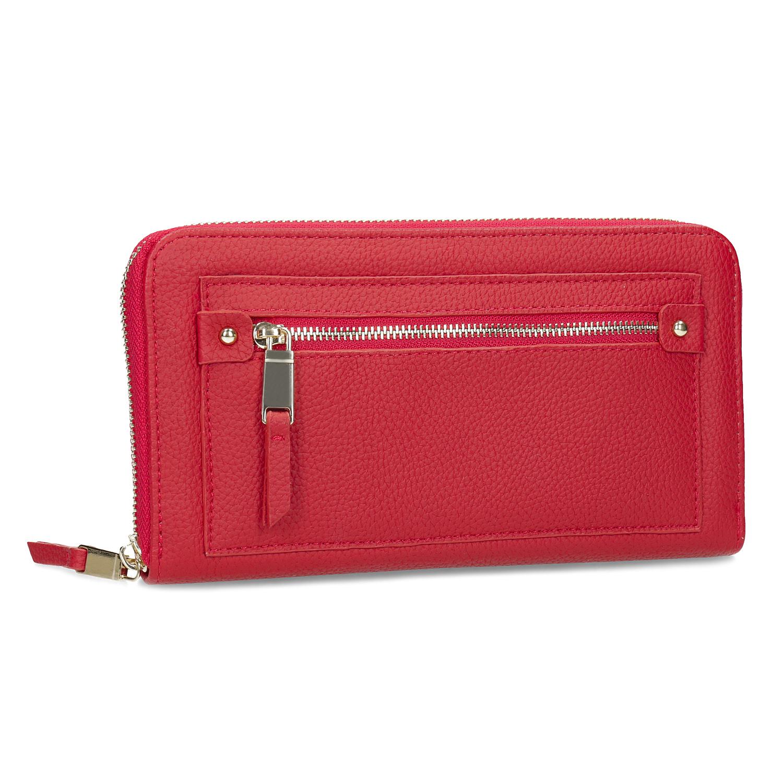 Dámská červená peněženka se zipem