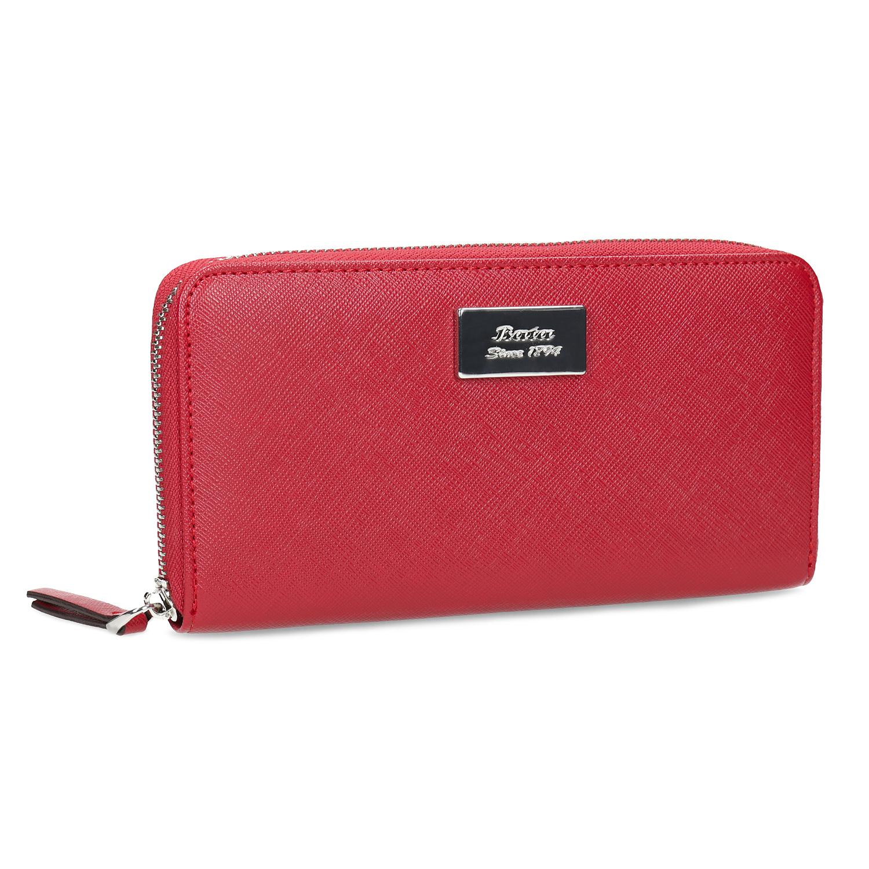 Červená dámská peněženka na zip