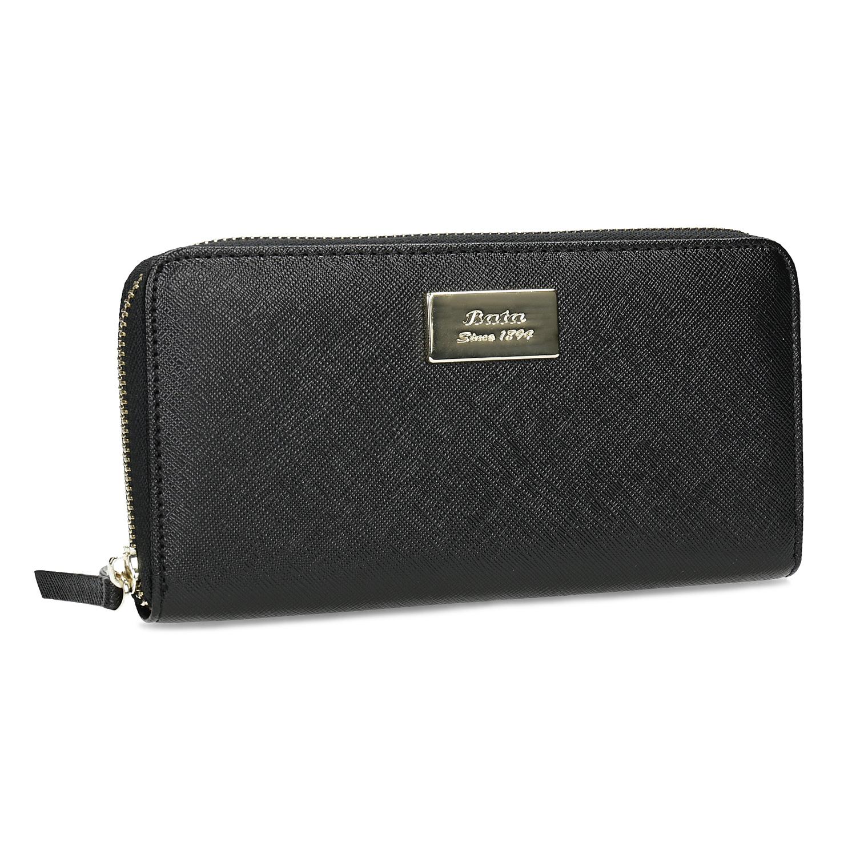 Čierna dámska peňaženka na zips