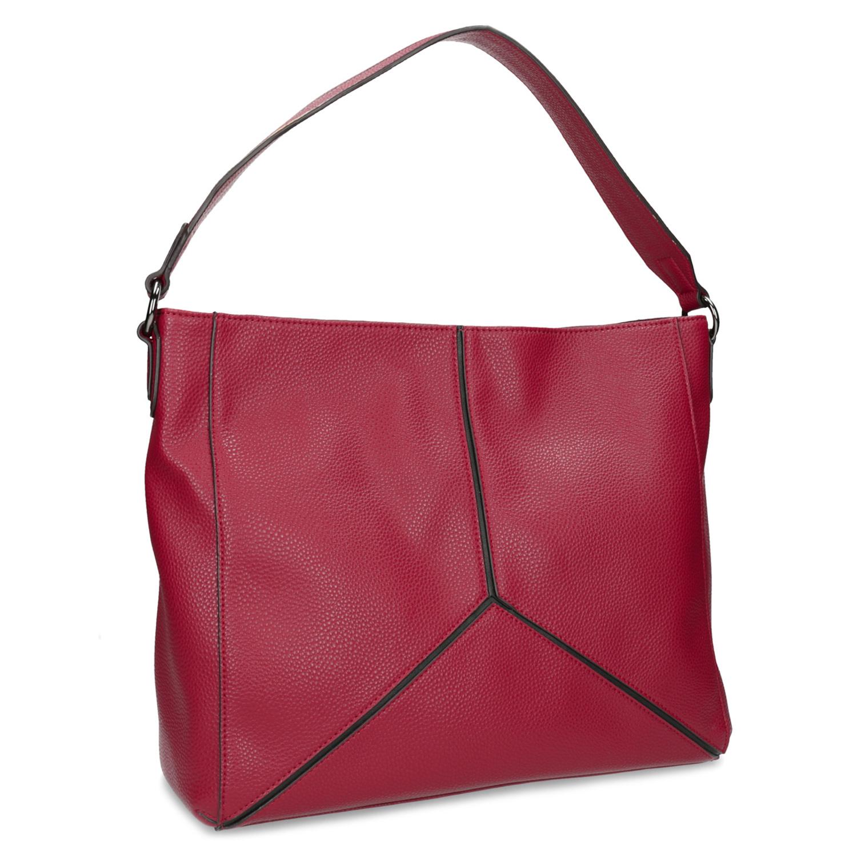 Červená dámská kabelka s prošitím